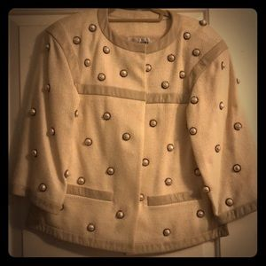 Jacket Chanel White with Pearls